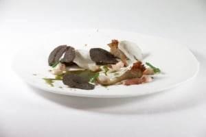 restaurante para ocasiones especiales en Valencia - alcachofa de gambas y setas