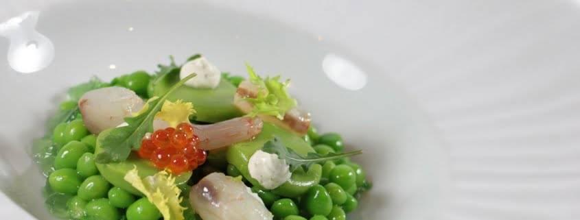 restaurante exclusivo en Valencia - guisantes de maresme