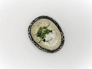 Restaurante de cocina de temporada en Valencia - Guisantes del maresme con kokotxa